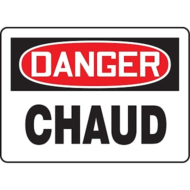 Safety Signs and Identification, Electrical, Danger; Chaud, SP571