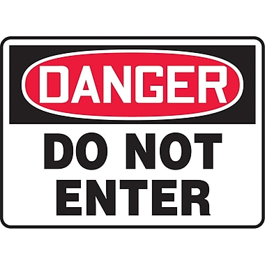Safety Signs and Identification, Admittance & Exit , Danger; Do not enter, SJ510