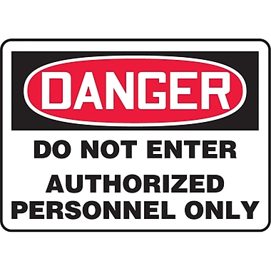 Safety Signs and Identification, Admittance & Exit , Danger; Do not enter authorized personnel only, SJ516