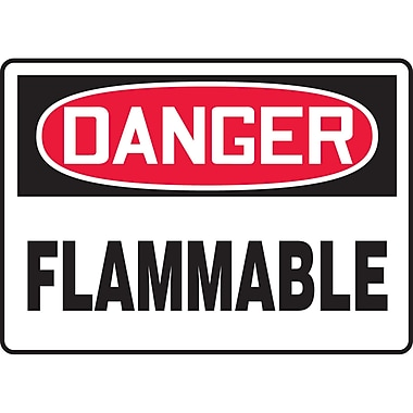 Safety Signs and Identification, Chemicals & Haz-Mat, Danger; Flammable, SAT247