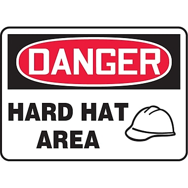 Safety Signs and Identification, Personal Protection, Danger; Hard Hat Area, SAU415