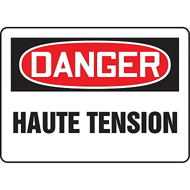 Safety Signs and Identification, Electrical, Danger; Haute Tension, SO789