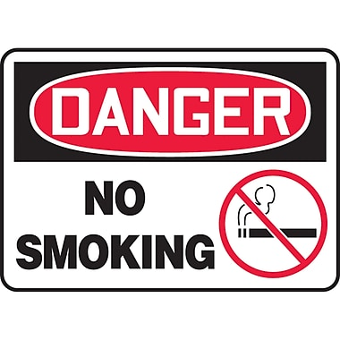 Safety Signs and Identification, Smoking Control, Danger; No Smoking, SL895