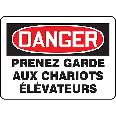 Safety Signs and Identification, Traffic Industrial, Danger; Prenez Garde aux Chariots elevateurs, SP1-50