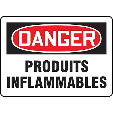 Safety Signs and Identification, Fire & Emergency, Danger; Produits Inflammables, SP057