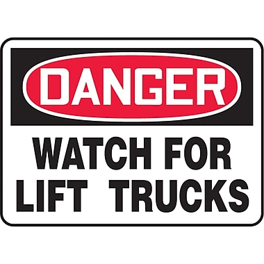 Safety Signs and Identification, Traffic Industrial, Danger; Watch For Lift Trucks, SAT062
