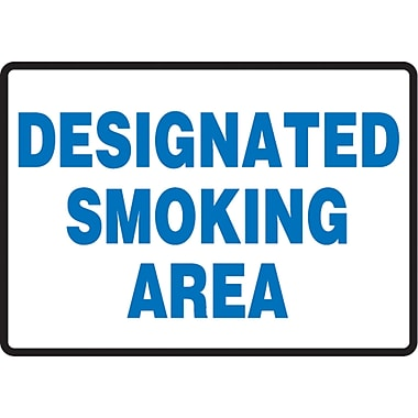 Safety Signs and Identification, Smoking Control, Designated Smoking Area, SAS919