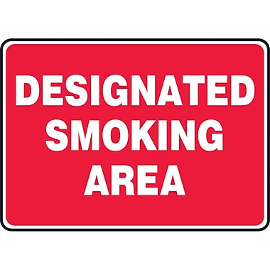 Safety Signs and Identification, Smoking Control, Designated Smoking Area, SAS994