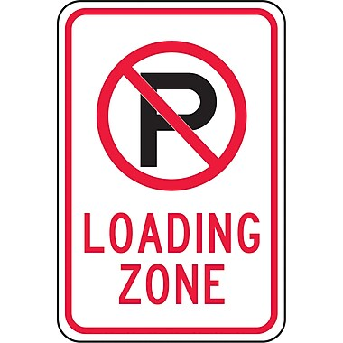 Parking Signs, Loading Zone w/No Parking, SAX511