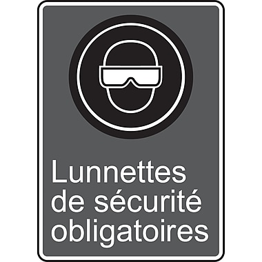 Canadian Standards Association Identification Safety Signs, Lunettes De Securite Obligatoires, SR642