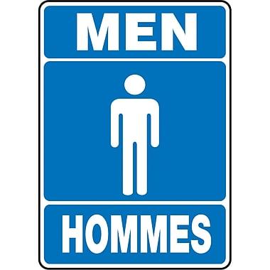 Restroom Signs, Men Hommes, SAX654
