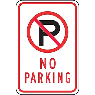 Parking Signs, No Parking, SAX514