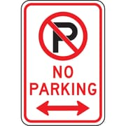 Parking Signs, No Parking and Double Arrow, SAX515