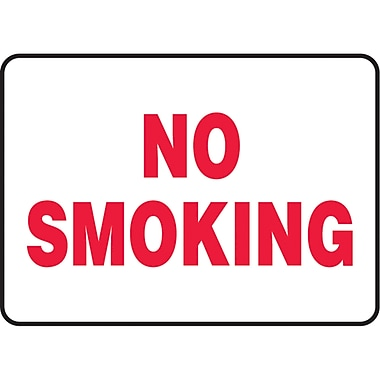 Safety Signs and Identification, Smoking Control, No Smoking, SL966
