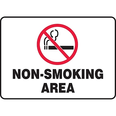 Safety Signs and Identification, Smoking Control, No Smoking Area, SAT031