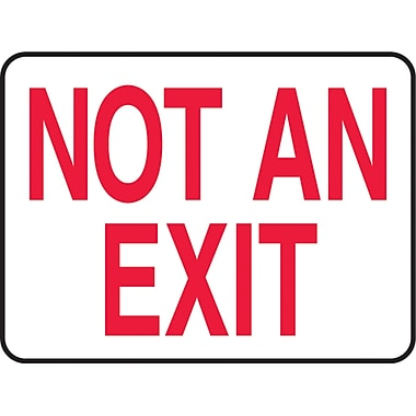 Safety Signs and Identification, Admittance & Exit , Not an exit, SAS797