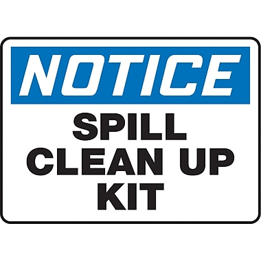 Safety Signs and Identification, Housekeeping, Notice; Spill Clean Up Kit, SAU300