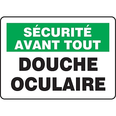Safety Signs and Identification, Eyewash Station, Securite Avent Tous; Douche Oculaire, SP602