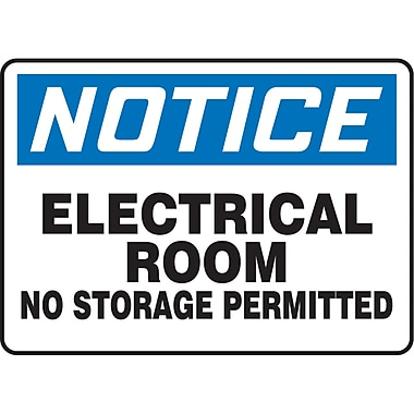 Safety Signs and Identification, Electrical, Attention; Electrical room; no stoage permitted, SAT994