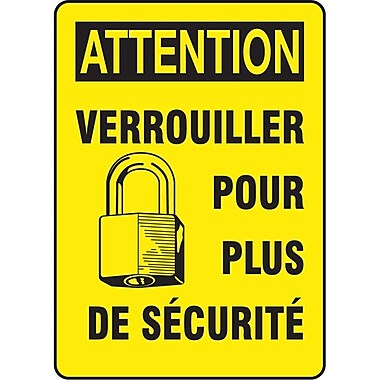 Safety Signs and Identification, Electrical, Attention; Verouiller Pour Plus De Securite, SAZ578