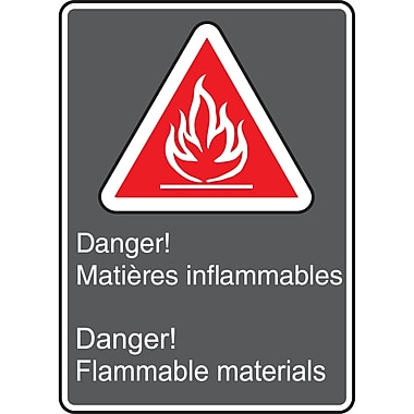 Canadian Standards Association Identification Safety Signs, Danger! Flammable Materials, SAU974