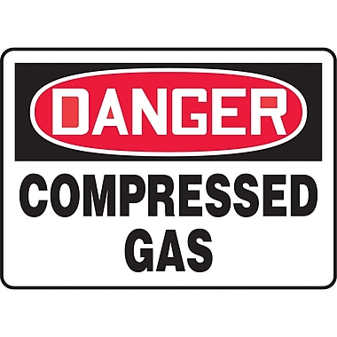Safety Signs and Identification, Chemicals & Haz-Mat, Danger; Compressed gas, SK171