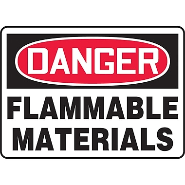 Safety Signs and Identification, Chemicals & Haz-Mat, Danger; Flammable Materials, SK299