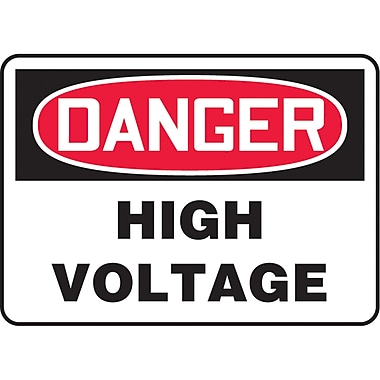 Safety Signs and Identification, Electrical, Danger; High voltage, SL112