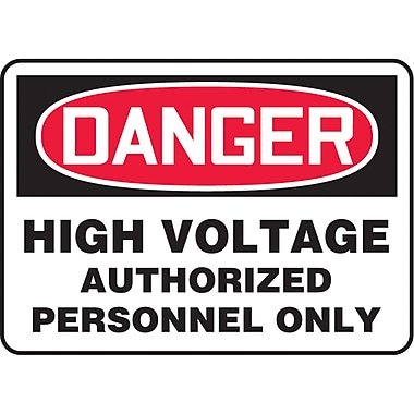 Safety Signs and Identification, Electrical, Danger; High voltage authorized personnel only, SAT720