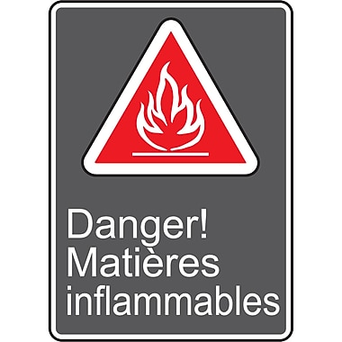 Canadian Standards Association Identification Safety Signs, Danger; Matieres Inflammables, SAU977