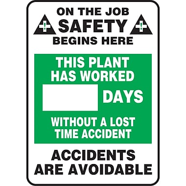 Write-A-Day Scoreboards, This plant has worked XX days without a lost time accident, SAV222