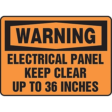 Safety Signs and Identification, Electrical, Warning, Electrical panel keep clear up to 36 inches, SAT969