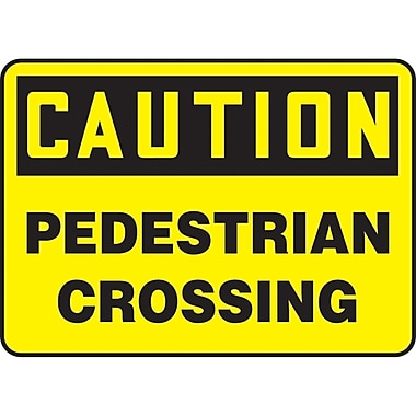 Safety Signs and Identification, Traffic Industrial, Caution; Pedestrian Crossing, SAT109