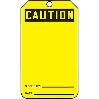 Standard Safety Tags, Caution, SAU634, 25/Pack