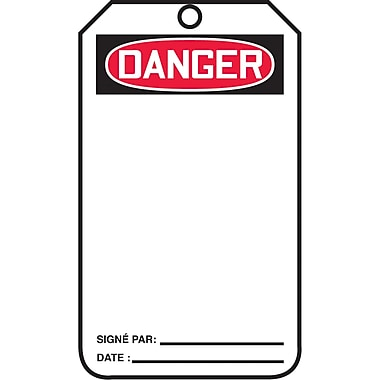 Standard Safety Tags, Danger, SAU834, 25/Pack