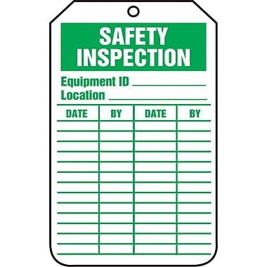 Equipment Status and Inspection Safety Tags, Safety Inspection, SAU719, 25/Pack