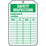 Equipment Status and Inspection Safety Tags, Safety Inspection, SAU718, 25/Pack