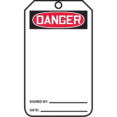 Standard Safety Tags, Danger, SAT022, 25/Pack