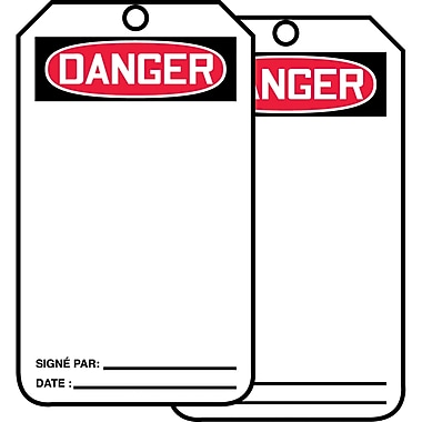 Blank Header Safety Tags, Danger, SED646, 25/Pack