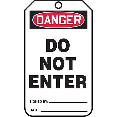 Standard Safety Tags, Danger; Do not enter, SAU606, 25/Pack