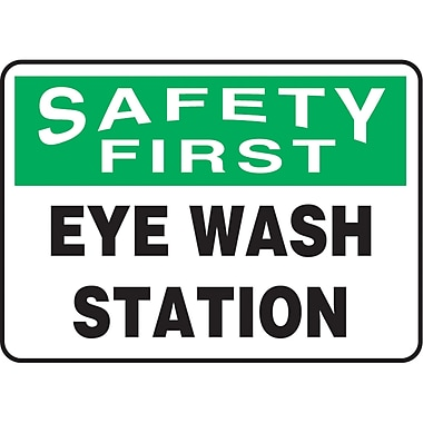 Safety Signs and Identification, Eyewash Station, 12