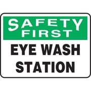 "Safety Signs and Identification, Eyewash Station, 12"" (30 cm), Plastic"
