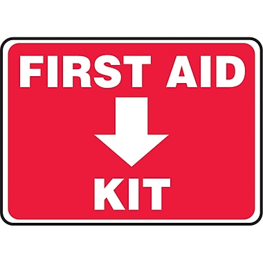 Safety Signs and Identification, First Aid, Plastic, 90D, SAU211