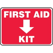 "Safety Signs and Identification, First Aid, 14"", Bilingual, SAU208"