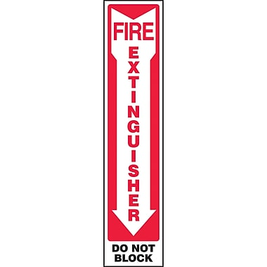 Safety Signs and Identification, Fire & Emergency, Plastic, 3D, SBC935
