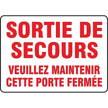 Safety Signs and Identification, Fire & Emergency, Plastic, 90D, SP095