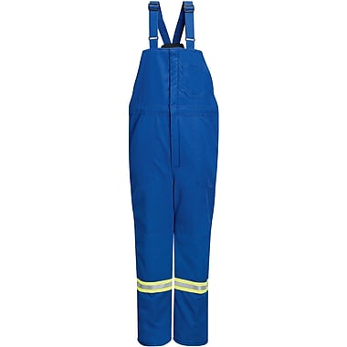 Deluxe Flame-Resistant Insulated Bib Overalls with Reflective Trim, X-Large