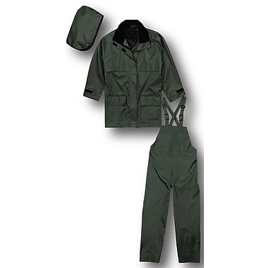 Terra Nylon 3 Piece Rain Suit, Green, Medium