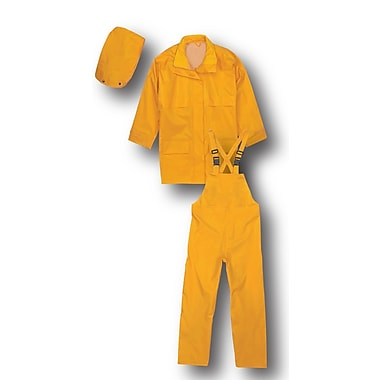 Terra Nylon 3 Piece Rain Suit, Yellow, Large