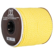 Twisted 3 Strand Polypropylene Rope, Yellow